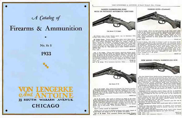 Von Lengerke & Antoine 1933 - No.81S Gun & Sports Catalog