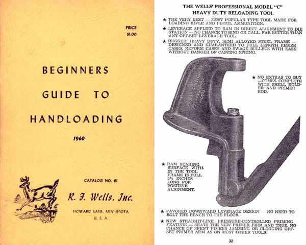 Beginners Guide to Handloading 1960 by RF Wells