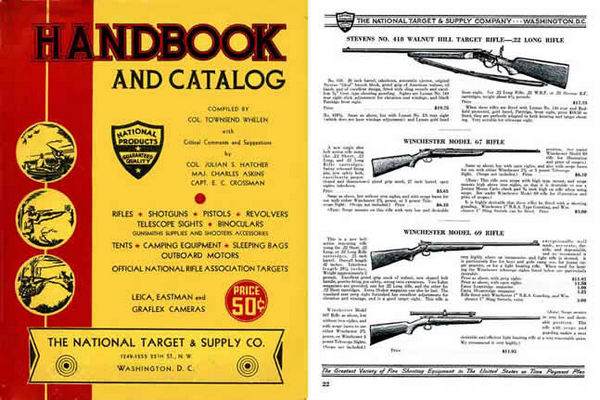 National Target & Supply Company c1936 Catalog (Col. Whelen-Wash. DC)