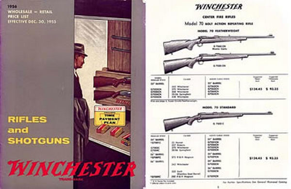 Winchester 1956 Illustrated Wholesale/Retail Price Catalog
