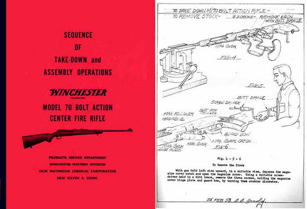 Winchester Model 70 Complete Takedown Manual