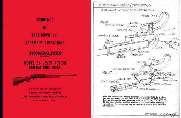 Winchester Model 88 Complete Takedown Manual