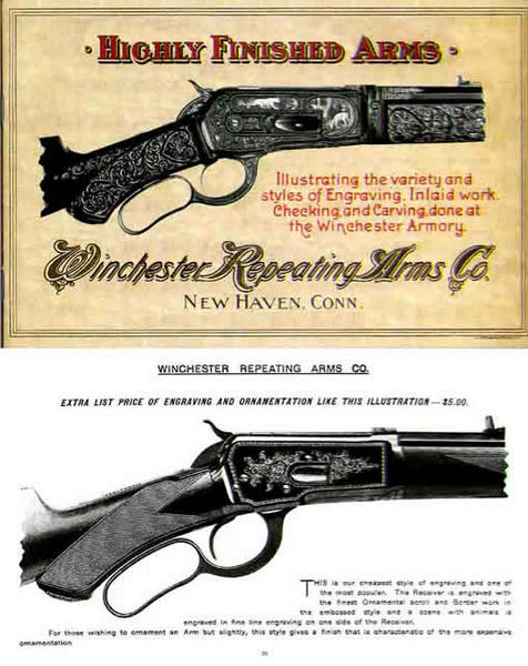 Winchester c1903 Finished Arms Engraving & Carving Catalog