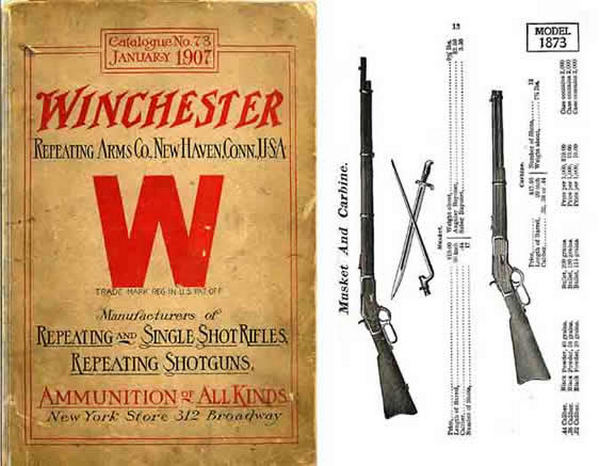 Winchester 1907 Jan- Repeating Arms Co. #73, Catalog