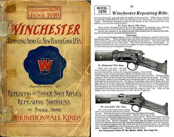 Winchester 1910 June- Repeating Arms Co. #76 Catalogue
