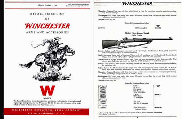 Winchester 1946 Arms and Accessories Gun Catalog