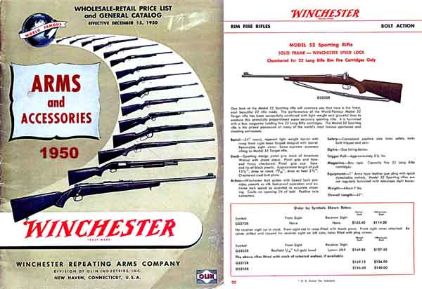 Cornell Publications -Winchester 1950 December Arms and Accessories Catalog