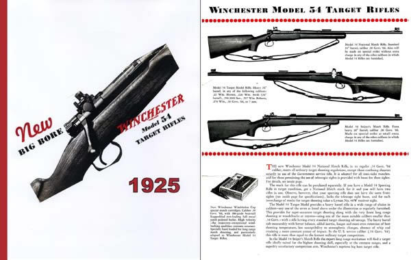 Winchester 1925 - The New Model 54 Big Bore Target Rifle