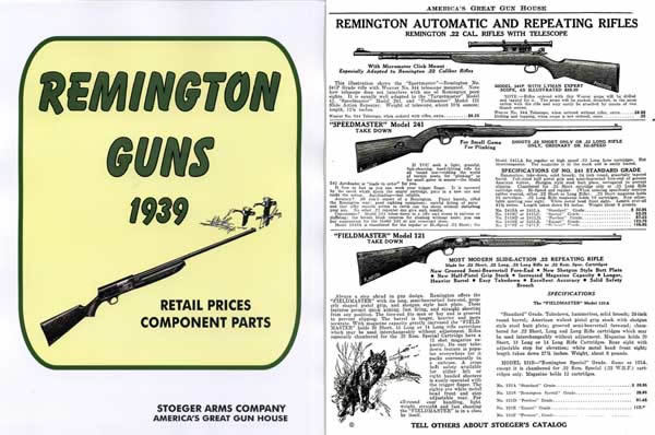 Cornell Publications -Remington 1939 Arms Stoeger Catalog