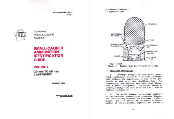 Ammunition Identification Guide 1989 (DIA) >15mm Vol 2
