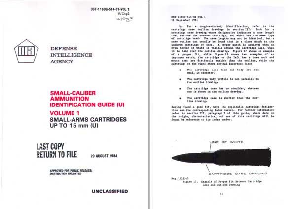 Ammunition Identification Guide 1985 (DIA) <15mm Vol 1