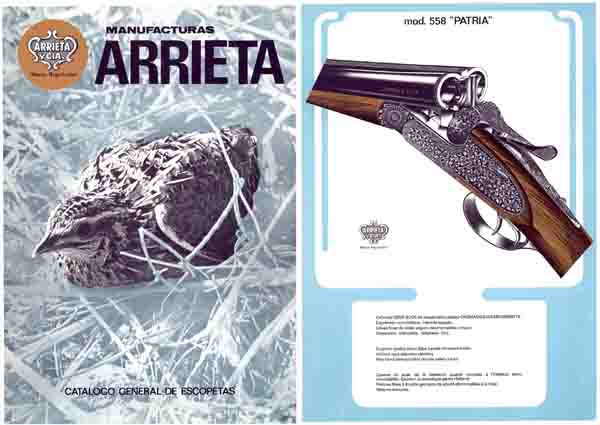 Manufacturas Arrietta 1982 (Spain) Gun Catalog