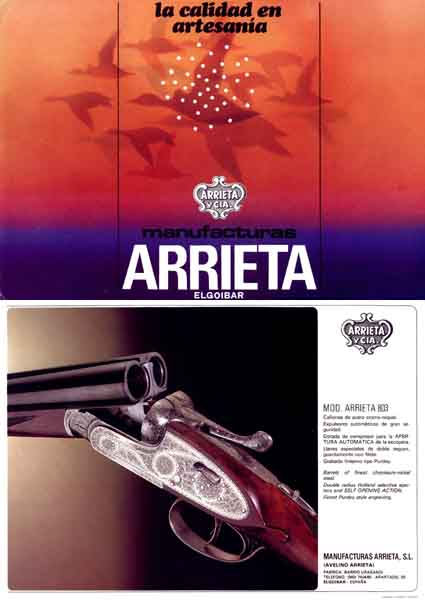 Manufacturas Arrietta c1985 (Spain) Gun Catalog
