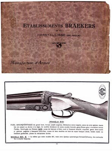 Etablissements Braekers 1929 Gun Catalogue