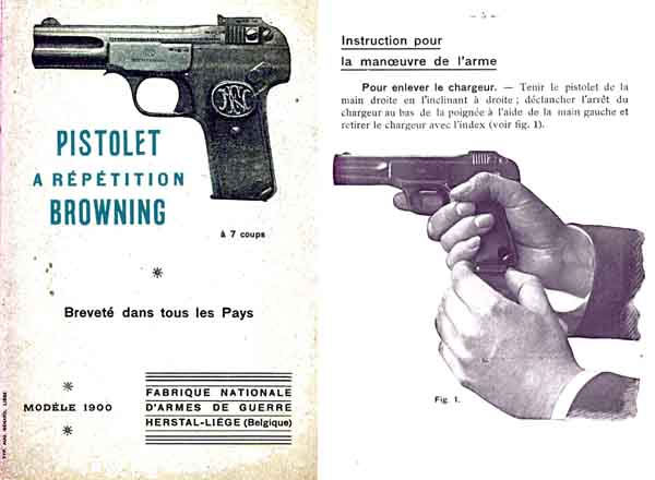 Browning Model 1900 Manual (in Fr)