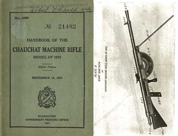 Chauchat Machine Rifle 1917 Manual