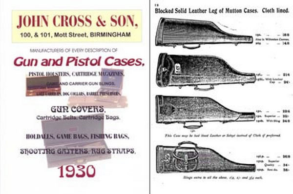 John Cross & Son Gun and Pistol Case 1930 Catalog (UK)