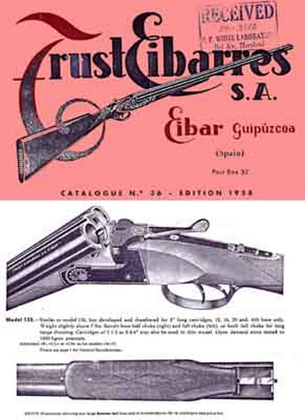 Eibar (Spain) Gun 1959 Catalog
