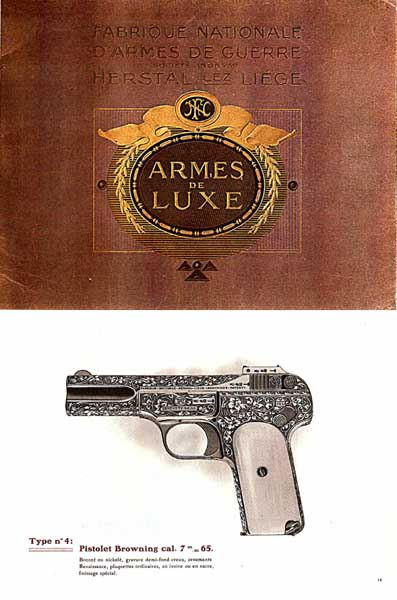 Browning 1914 (circa) Fabrique Nationale Armes de Luxe catalog