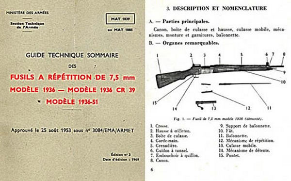 French Model 1936, 1936 CR39, 1936-51 Rifle Manual