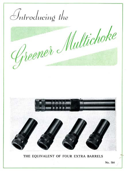 WW Greener c1958 GP & Multichoke Gun Catalog