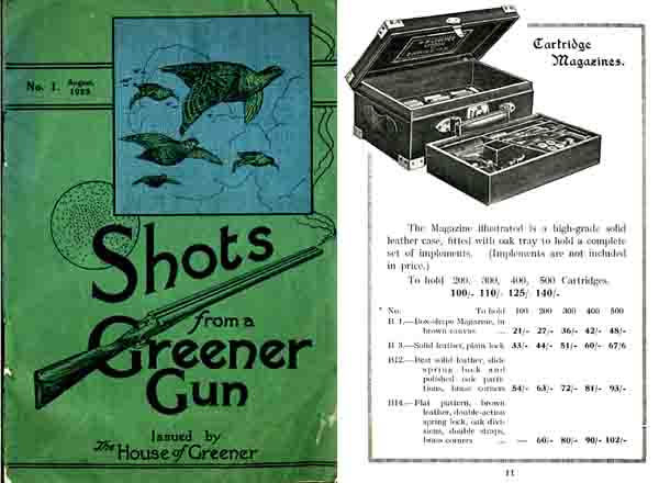 WW Greener 1923 Shots from a Greener Gun Catalog