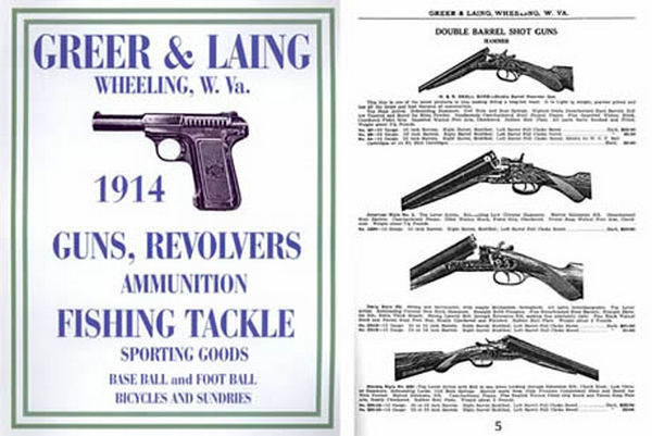 Greer & Laing 1914 Gun & Sporting Goods Catalog- Wheeling W. Va.