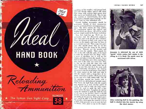 Ideal 1951 No. 38 Hand Book of Ammunition & Reloading
