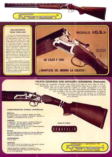 Kromson OUs (Spain) Gun Catalog - 1984