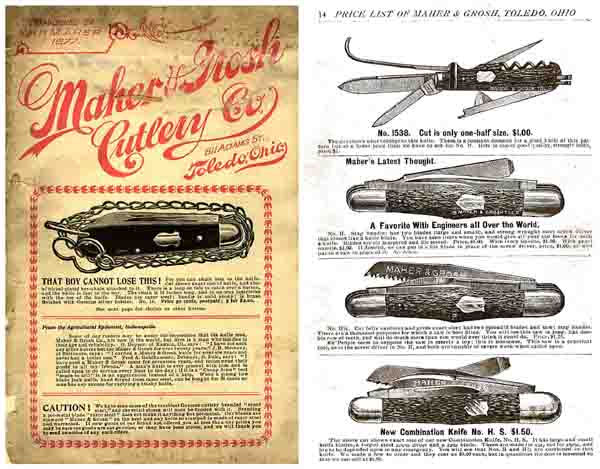 Maher & Grosh (Toledo) c1908 Knives and Guns Catalog