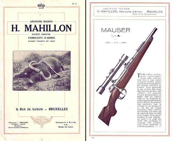 Image result for mauser rifle catalogue illustration