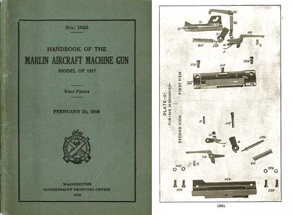 Marlin 1917 Aircraft Machine Gun Manual for 1917 Model