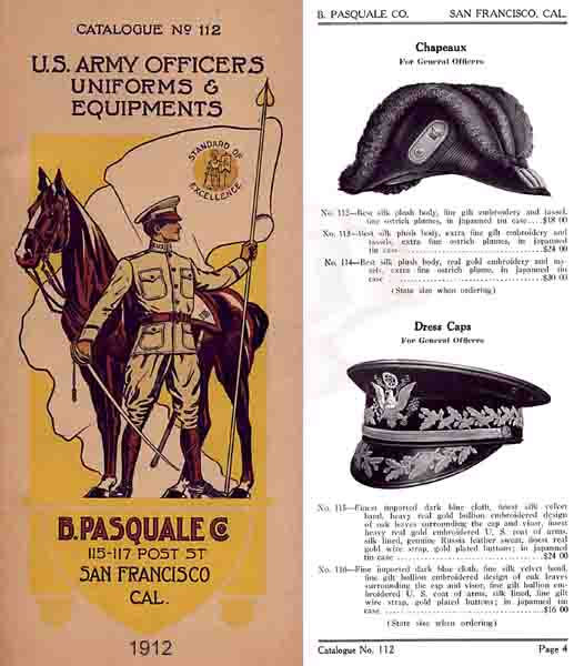 Pasquale Army Outfitters (San Francisco) 1912