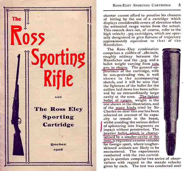 Ross 1908 Rifle and Eley Cartridge Catalog (Canada)