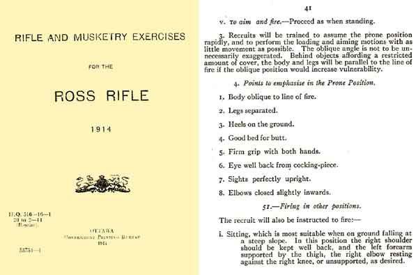 Ross 1914 Rifle Exercises Booklet