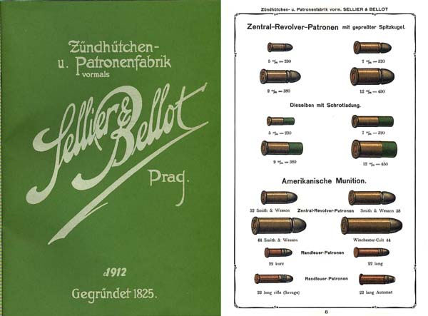 Sellior & Bellot c1912 (Prague) Ammunition Catalog