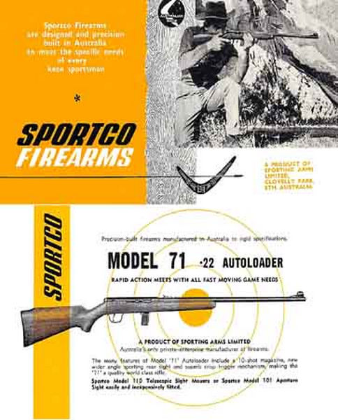 Sportco Firearms c1955 (AU) Gun Catalog-Manual