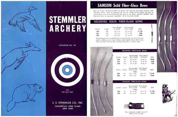 Stemmler 1964 Archery Catalog No. 167