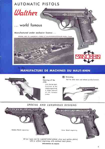 Walther PP and PPK by Manurhin 1956 Manual