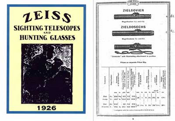 Zeiss (Ger) Rifle Telescopes 1921-1926