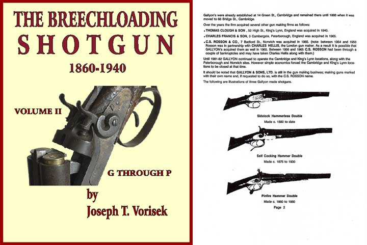 Breechloading Shotguns 1860-1940 Vol. II G-P