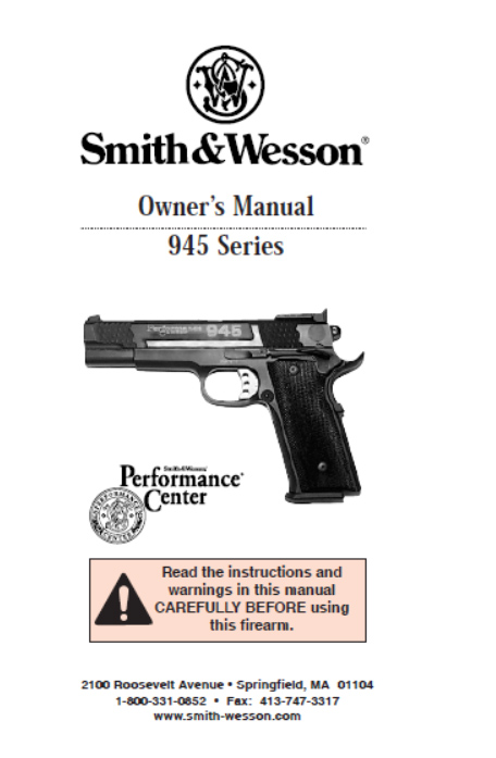 Smith & Wesson Model 945 Series Operations manual