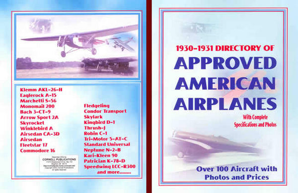 Directory of Approved American Airplanes 1930 -1931