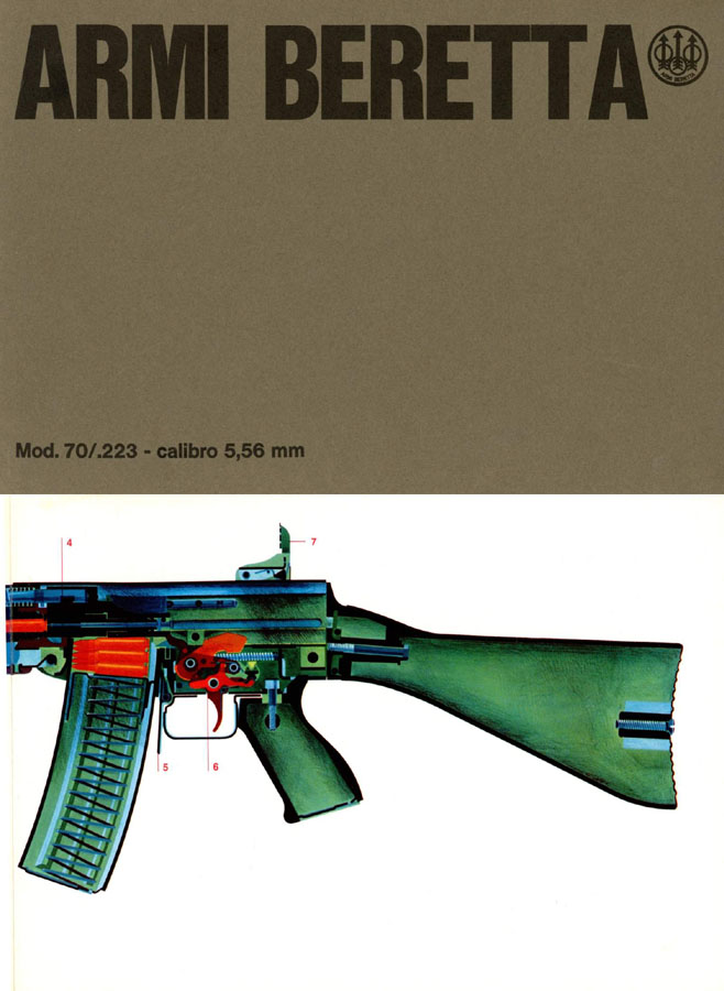 Beretta c1975 AR70 Assault Auto Rifle Catalog