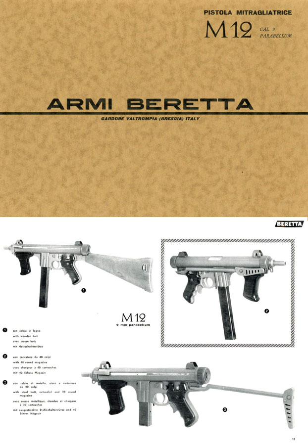 Beretta 1963 M12 9mm SMG Catalog