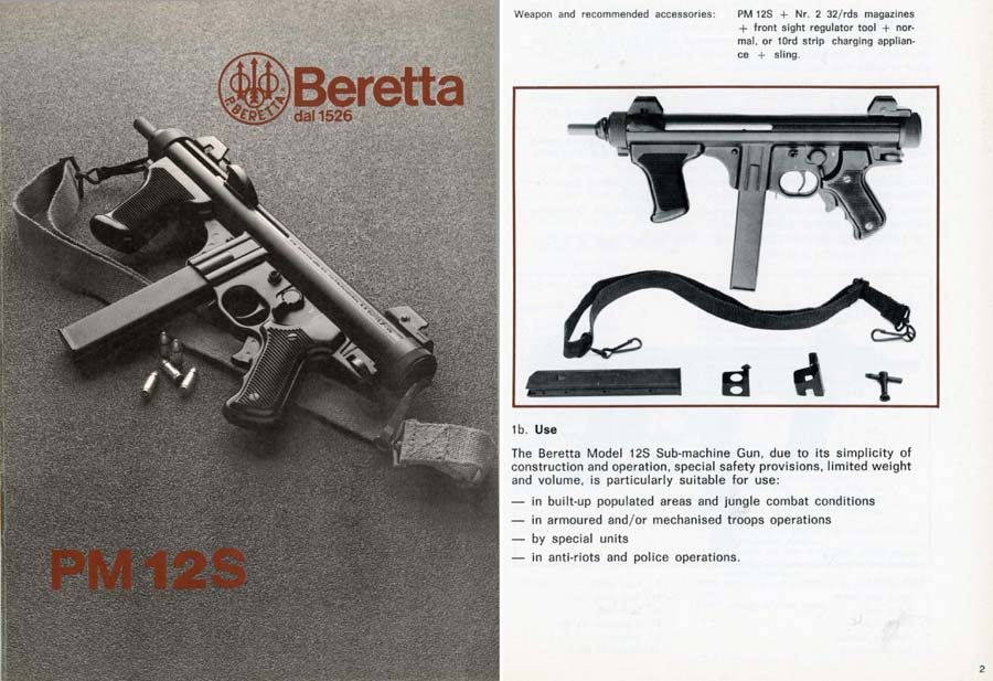 Beretta 1983 PM12S SMG Manual