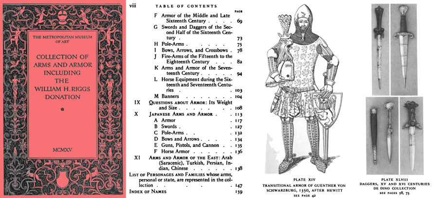 Handbook of Arms & Armor European & Oriental 1915 incl Wm Riggs Collection