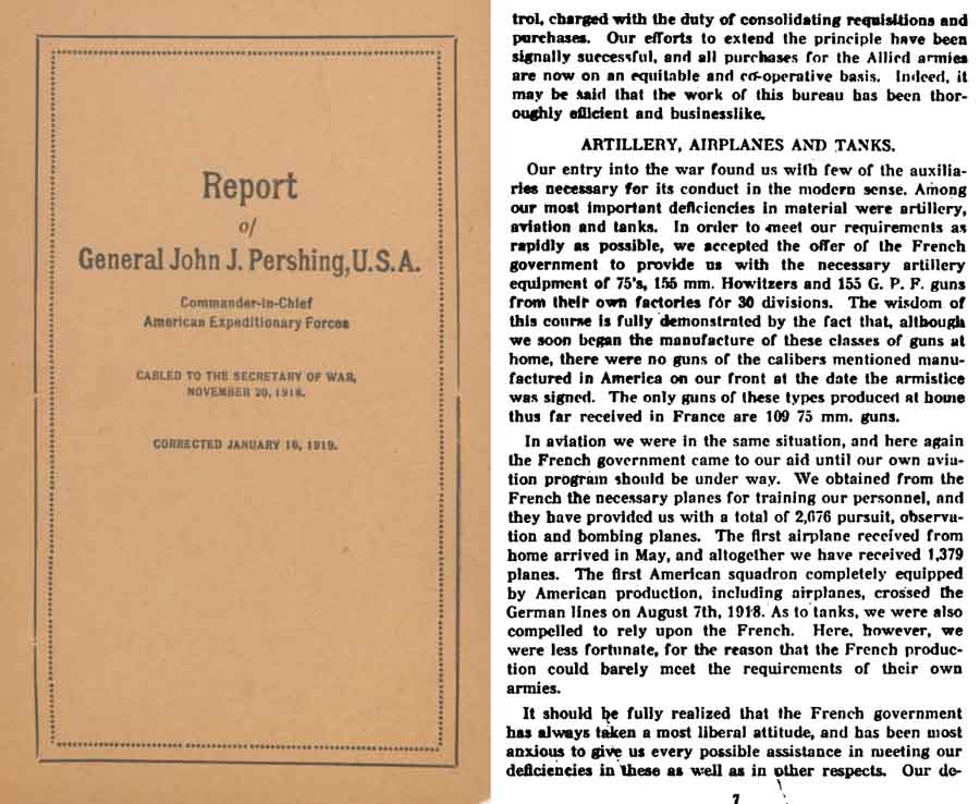 Report of General John J Pershing, C in C US Forces 1918