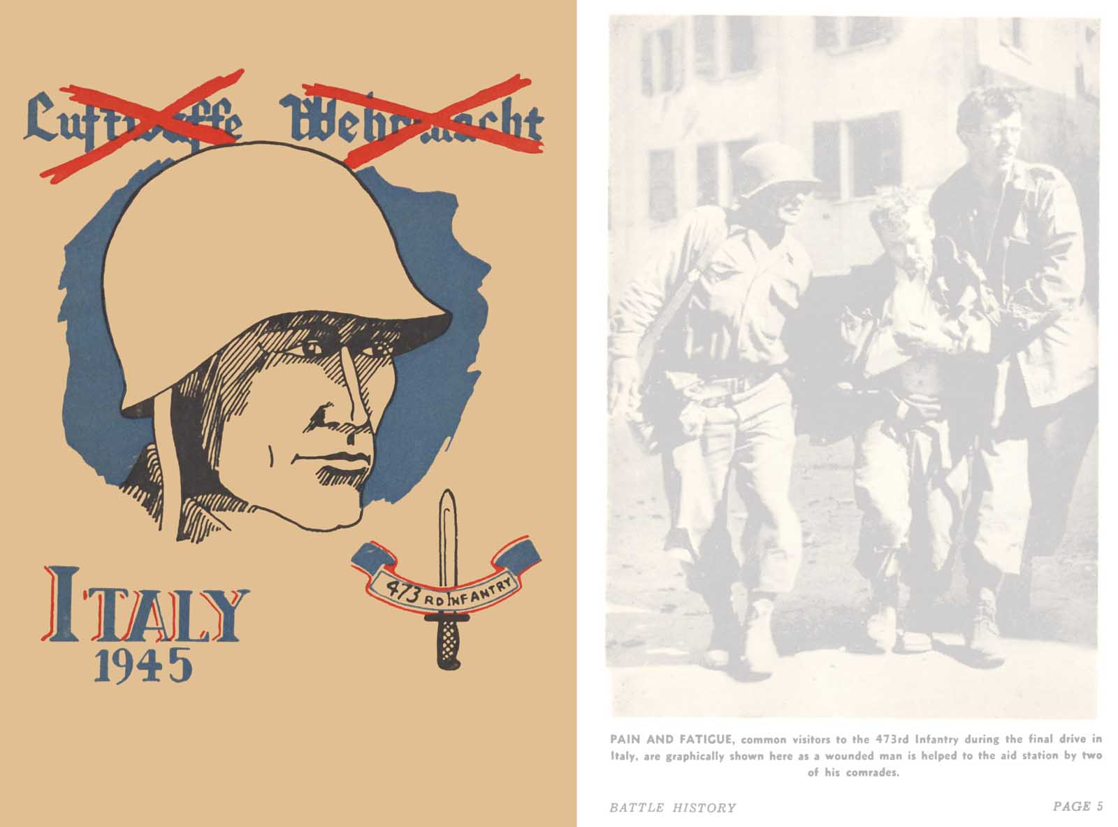 Battle History- 473rd United Stated Infantry Italy 1945