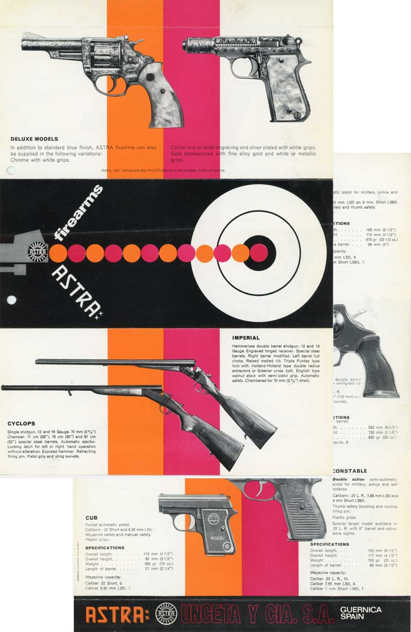 Astra Firearms c1973 Flyer